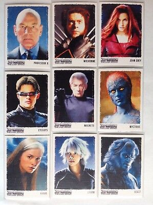 X-men 3 the last stand art set of 9 cards