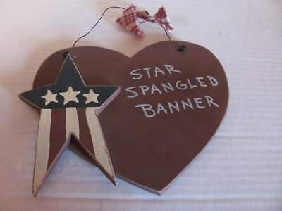 Americana Star Spangled Banner Hanging Wall Decoration Ornament 2679