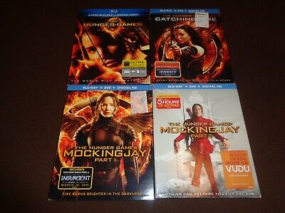 The Hunger Games *Complete 4 Movies Blu Ray & DVD Combo Collection* Sleeve, Slip