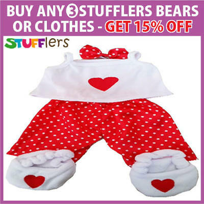 RED LOVE PJS pajamas Clothing Outfit by Stufflers – Soft Bear Clothes
