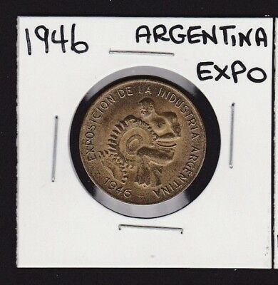 1946 Argentina Industrial Exposition Medal/Token
