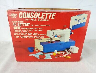 Crystal Consolette Portable Battery Operated Sewing Machine