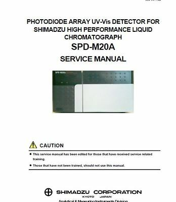Various  Shimadzu HPLC  SERVICE MANUALS - New price reduction