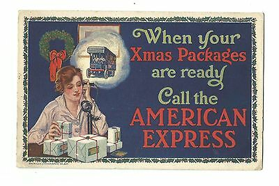 1915 Advertising Promotional Leaflet American Express Co Shipping Money Orders