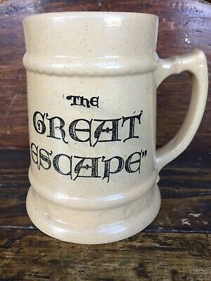 Vtg Medalta Potteries Advertising Stein The Great Escape Mug Alberta Canada AB