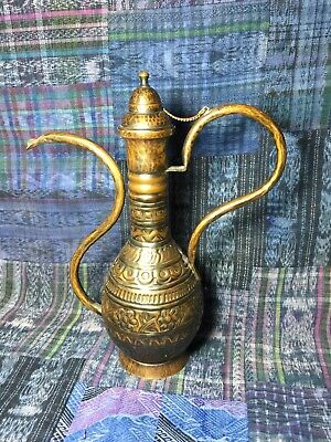 Hadar Handmade Brass Jug Like Old Islamic Ottoman Empire Style