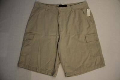 611700e363 NEW Mens Cargo Shorts Size 38 Khaki Casual Walking Golf Flat Front Beige