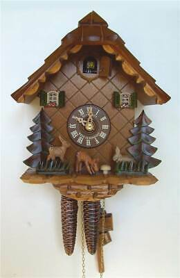 1-Day 7.9 in. Handcarved Bambi Cuckoo Clock [ID 93518]