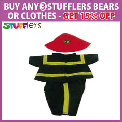Fireman Clothing Outfit by Stufflers – Fits Medium 40cm Plush Toy