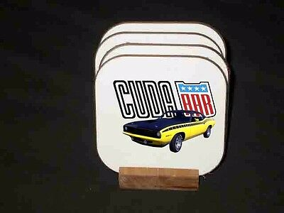 NEW Plymouth Barracuda Hard Coaster Sets! (MANY different sets available)