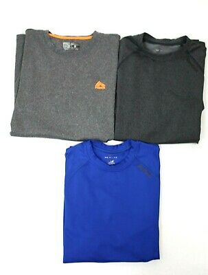 3874d3f3090 Lot of 3 REEBOK Mens long sleeve Athletic Workout Shirts Sz Small Gray &  blue
