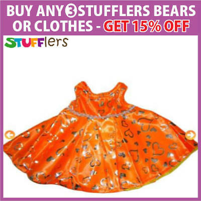 Orange Dress Clothing Outfit by Stufflers – Fits Medium Sized 40cm Plush Toys