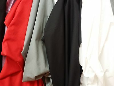Broadcloth Apparel Fabric Solid Cotton Polyester Blend 60""