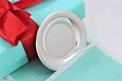 "Tiffany & Co. Sterling Silver Miniature Dollhouse Disc Plate 2.25"" Wide w/ Pouch"