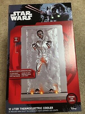Star Wars Han Solo In Carbonite 3D Molded 12L Thermoelectric Cooler Mini Fridge