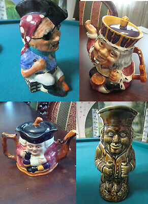 Shorter & Son Staffordshire Toby Character Jug Pitcher Teapot Pick 1
