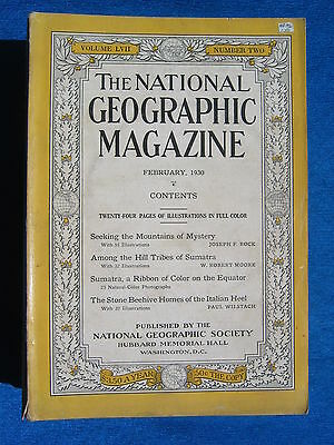 National Geographic Magazine February 1930 Vintage Ads Car Truck Advertising
