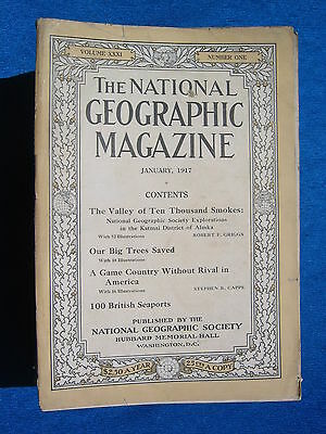 National Geographic Magazine January 1917 Vintage Ads Car Truck Advertising