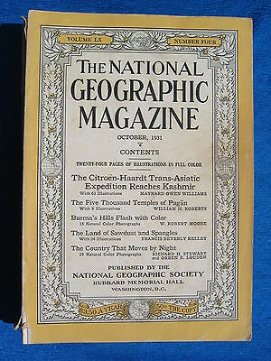 National Geographic Magazine October 1931 Vintage Ads Car Truck Advertising