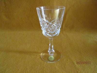 """Germany Hutschenreuther Etched Crystal Wine Glass 5-6/8"""" T X 2.5""""W Excellent"""