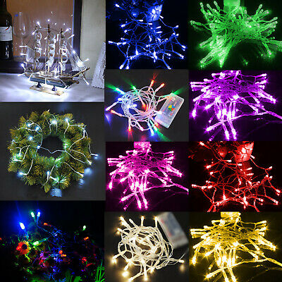 1M 10 LED Copper Wire String Fairy Light Battery Powered Green For Xmas ST325-05