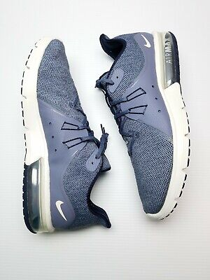 new style 40591 429b1 Nike Air Max Sequent 3 Running Shoes Obsidian Summit White 921694-402 Men Sz