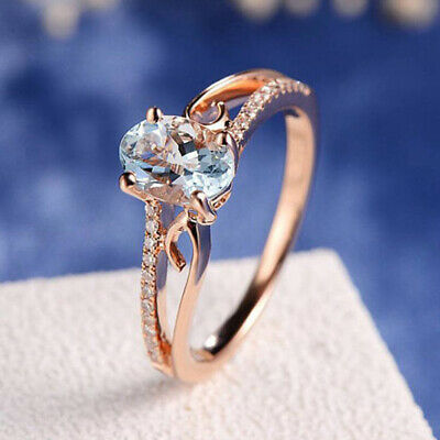 Exquisite Women Oval Rings Jewelry Bride Engagement Wedding Ring Ornaments Ring