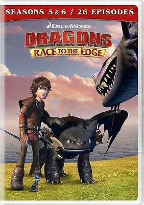 Dragons Race to the Edge Seasons 5 & 6 DVD NR DVD discs 4 Action & Adventure NEW
