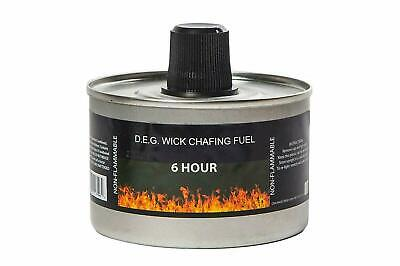 Reusable Chafing Dish Fuel - 6 Hour Burn Time - Relightable Wick - 24 Pack