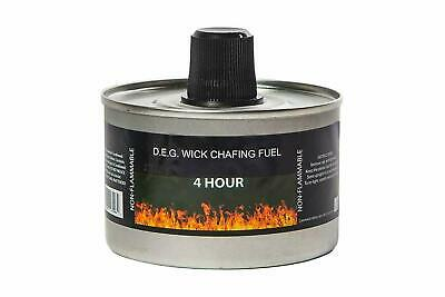 Reusable Chafing Dish Fuel - 4 Hour Burn Time - Relightable Wick - 24 Pack