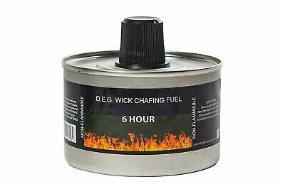 Reusable Chafing Dish Fuel - 6 Hour Burn Time - Relightable Wick - 48 Pack