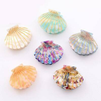 Fashion Shell Hair Acetate Clip Resin Floral Print Grips Clips Ponytail Hairpins