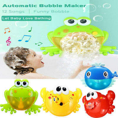 Musical Crab Bubble Tub Frog Automated Spout Machine Blower Maker Bath Kids Toys