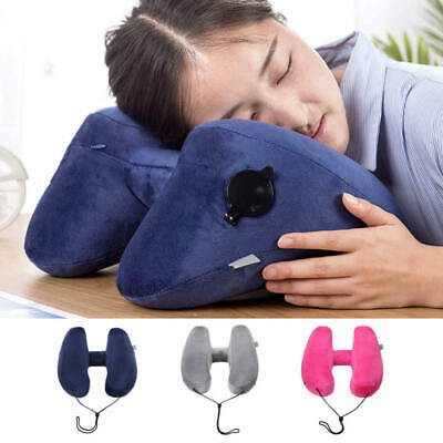 Portable Car Seat Headrest Inflatable Flight Pillow Neck U Rest Air Pillow xcg