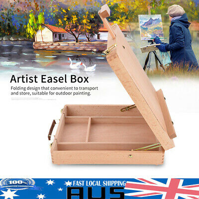 Adjustable Artist Easel Art Drawing Oil Painting Beech Tabletop Sketch Box Board