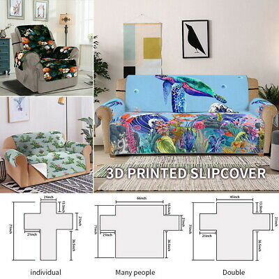 3D Print Sofa Covers Couch Slipcover Stretch Elastic Fabric Settee Protector 34