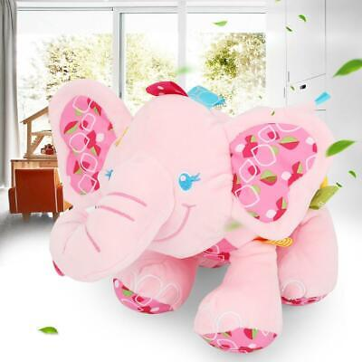 Newborn Cartoon Elephant  Appease Plush Toy Baby Bed Stroller Hanging Pull Bell