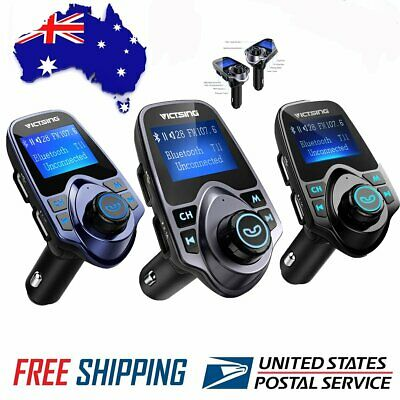 VicTsing Wireless Bluetooth FM Transmitter MP3 Radio Adapter Car Kit USB Charger