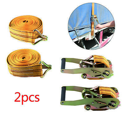 Ratchet Straps Tie Down  2 tons Claw Lorry Lashing Handy Straps