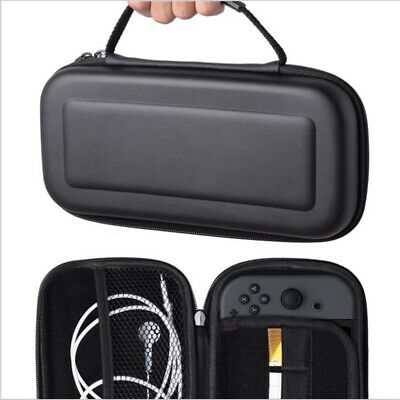 For Nintendo Switch EVA Case Protective Cover Accessories Travel Carry Bag Black