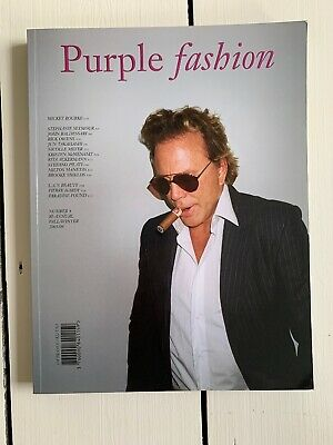 Vintage Purple Fashion Magazine Mickey Rourke 4 Fall Winter 2005 2006