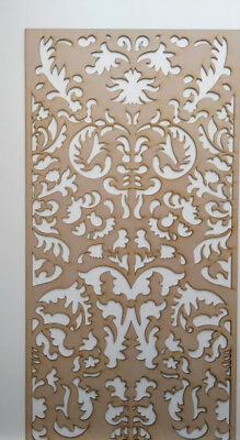 Radiator Cabinet Decorative Screening Perforated 3mm & 6mm thick MDF laser cutG2