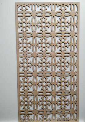 Radiator Cabinet Decorative Screening Perforated 3mm & 6mm thick MDF laser cutD2