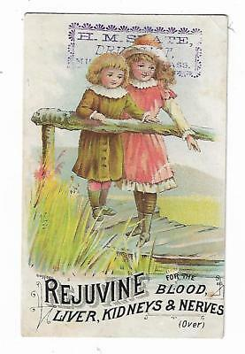 Quack Medicine Trade Card Rejuvine Tonic NR Scott Worcester Mass Salve Children