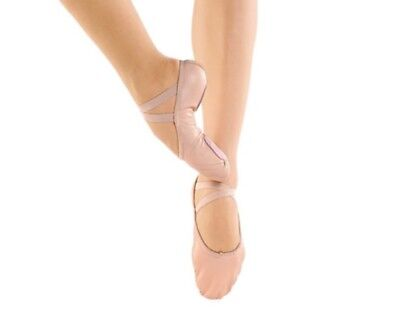 So Danca Just Dance Pink Ballet Shoes Professional Leather Split Sole Youth Size