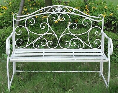 Pleasing Metal Garden Bench Seat Patio Furniture Vintage Foldable Pabps2019 Chair Design Images Pabps2019Com