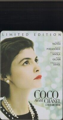 COCO Avant CHANEL Limited Edition DVD Metal Case 2009 STEEL BOX Audrey Tautou