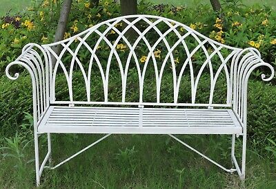Miraculous Metal Garden Bench Patio Seat Furniture Antique Foldable Caraccident5 Cool Chair Designs And Ideas Caraccident5Info
