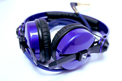 Custom Cans UV Deep Blue / Purple Sparkle HD25 DJ Headphones with 2 yr warranty