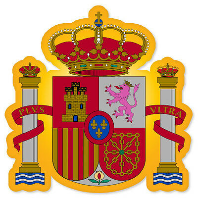 "SPAIN Spanish Coat of Arms bumper sticker decal 4"" x 4"""